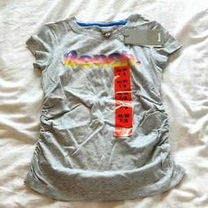 NWT Bench Girls 7/8 Tee Grey with Rainbow Logo